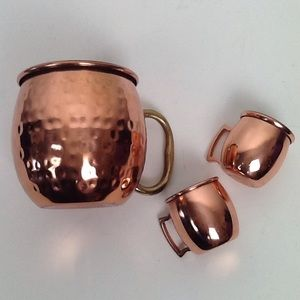 Copper Moscow mule set-1 large and 2 minis